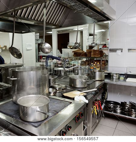 Professional kitchen interior, square image