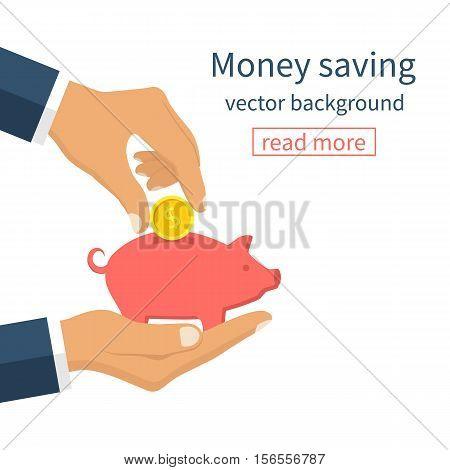 Money Saving Concept.