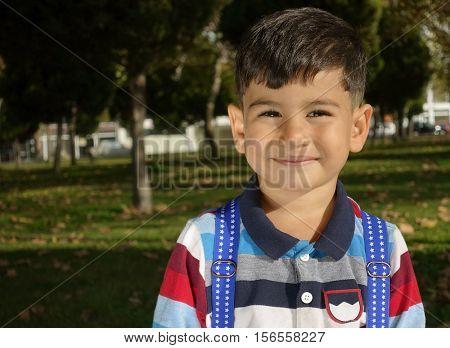 Delightful little boy portrait.