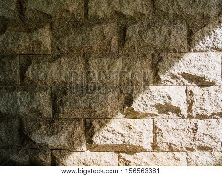 old brick wall shadow black and white texture background