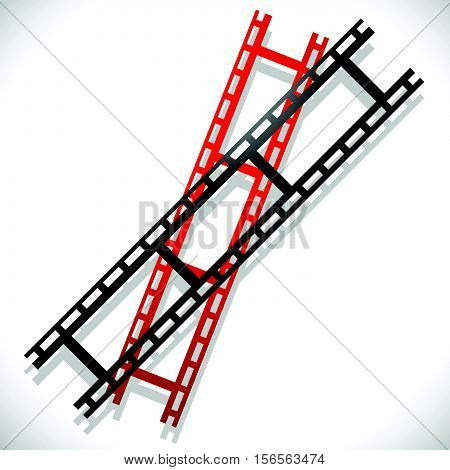 Straight Film Strips. Photography, Media Concept Icon