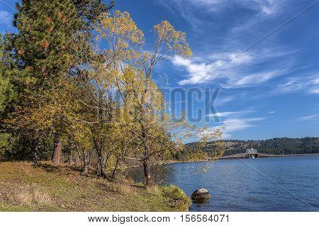 Lake by Heyburn State Park near Plummer Idaho.