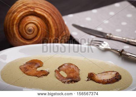 Fried Giant Tun Snails Dish