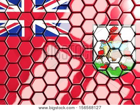Flag Of Bermuda, Hexagon Mosaic Background