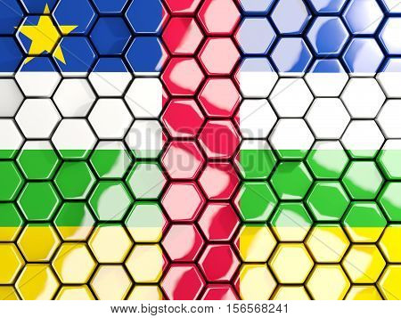 Flag Of Central African Republic, Hexagon Mosaic Background