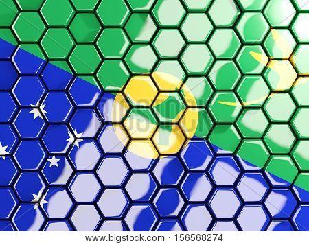 Flag Of Christmas Island, Hexagon Mosaic Background