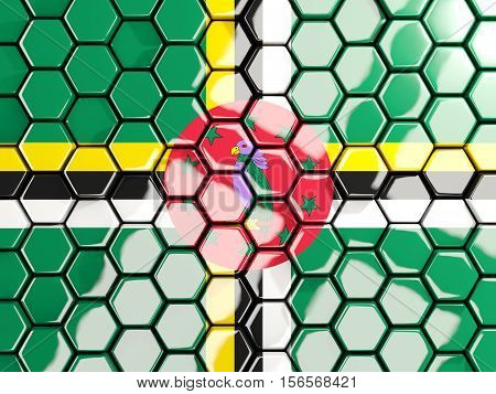 Flag Of Dominica, Hexagon Mosaic Background