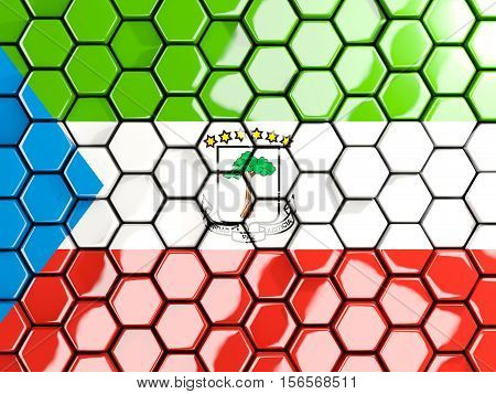 Flag Of Equatorial Guinea, Hexagon Mosaic Background
