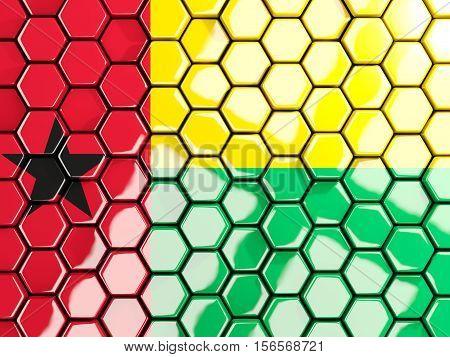 Flag Of Guinea Bissau, Hexagon Mosaic Background