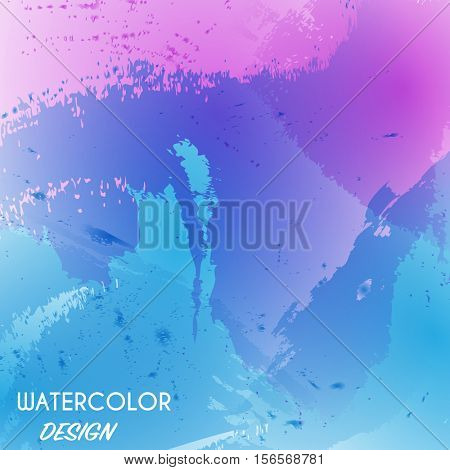 Blue, pink and purple watercolor background