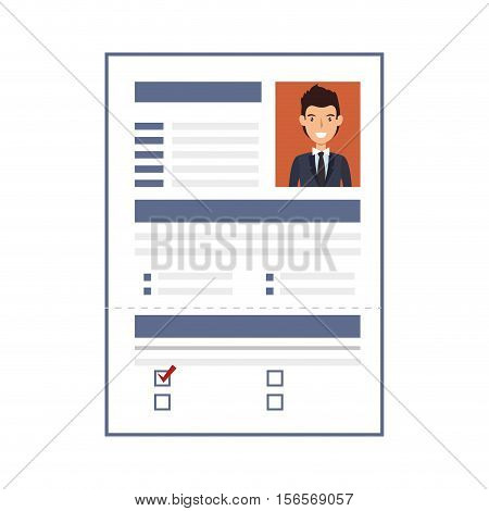curriculum vitae paper isolated icon vector illustration design