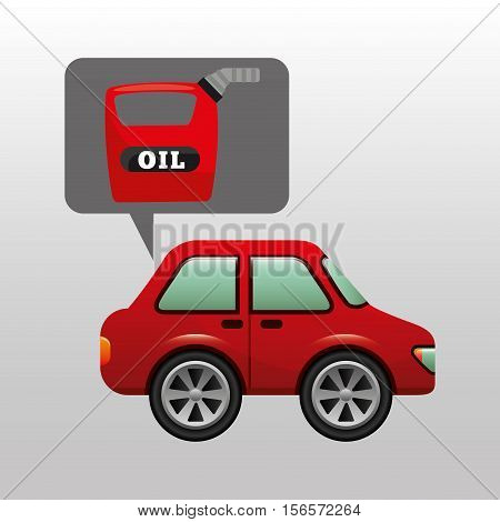 car gallon oil red icon vector illustration eps 10