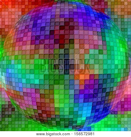 Abstract coloring background of the abstract gradient with visual cubism,mosaic and spherize effects,good for your project design