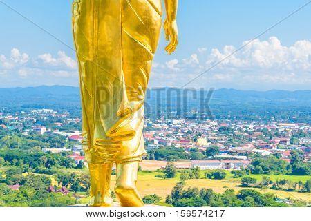 Buddha  image in Wat Phumin temple at Nan province, Thailand.
