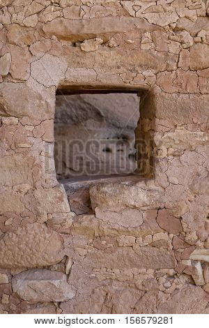 Window of a Cliff Dwelling in Mesa Verde National Park, Colorado, USA