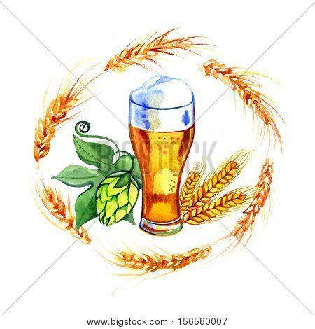 Beer mug sign scalable illustration. Logo and design.