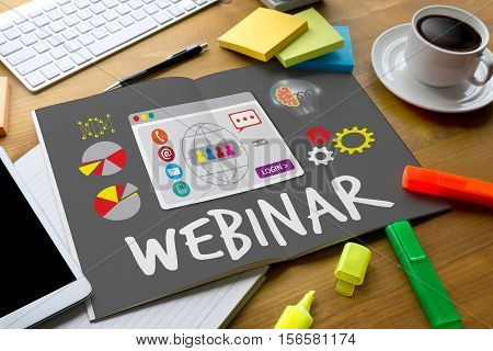 Webinar Online  E-learning  Web Webcast Technology Collaborative To Webinar