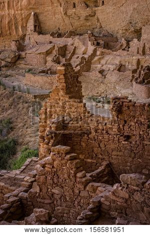 Ruins in Mesa Verde National Park, Colorado, USA
