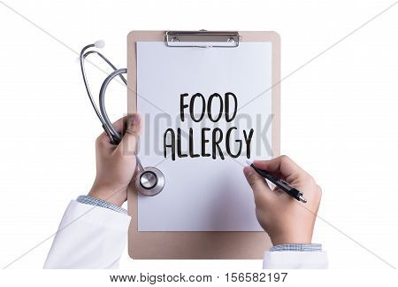 Allergy Food Concept. Allergy Food As Almonds Food Allergy