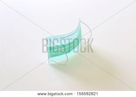 green mask isolated on the white background
