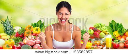 Happy dieting girl.