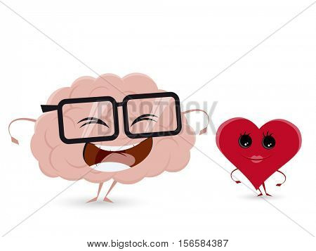 funny brain and heart clipart
