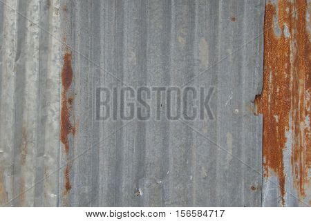 focus to rusted galvanized iron plate background
