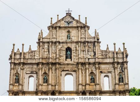 Ruins of St. Paul's. One of Macau's best known landmarks. In 2005, they were officially listed as part of the Historic Centre of Macau, a UNESCO World Heritage Site
