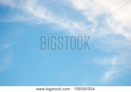 summer day blue sky with builtyful cloud