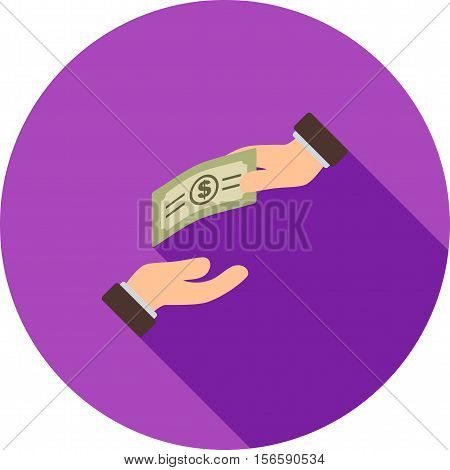 Donation, funding, help, icon vector image. Can also be used for currency. Suitable for web apps, mobile apps and print media.