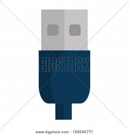 usb connector wire icon vector illustration design