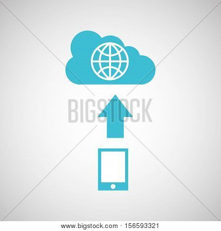 device transfer cloud global world vector illustration eps 10