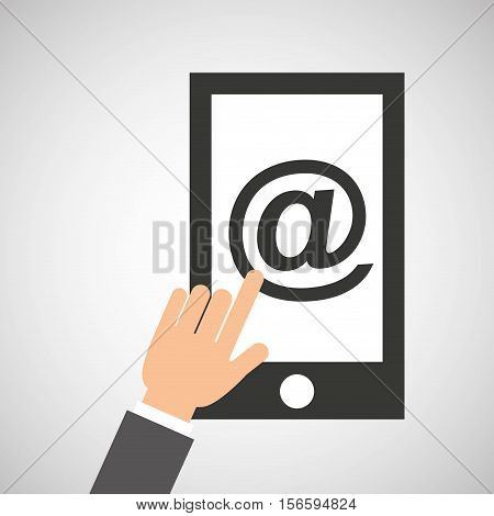 smartphone app mail social media icon vector illustration eps 10