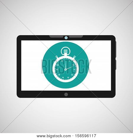 technology clock social media design vector ilustration eps 10