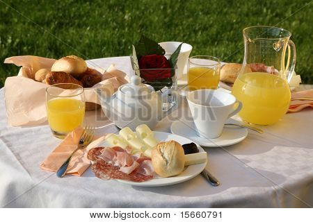breakfast outdoor