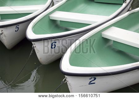 Ships that dock in the middle of the park lake.
