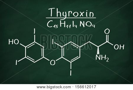 Structural Model Of Thyroxin