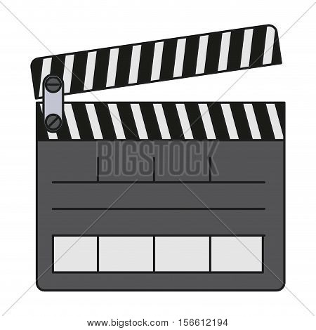 Clapboard icon. Movie film video cinema and entertainment theme. Isolated design. Vector illustration