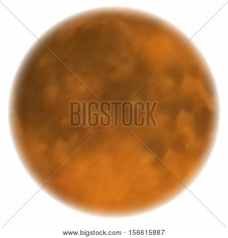 Moon realistic vector. Yellow Planet Isolated. Heavenly body on white background.