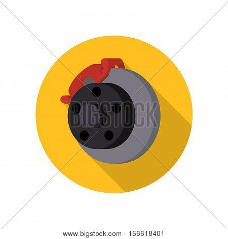 Auto, car, automotive brake vector icon with shadow