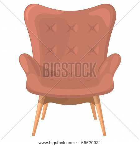 Vector red armchair isolated on a white background.