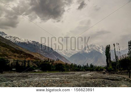Gilgit River near Shandur pass Gilgit-Baltistan Province Pakistan