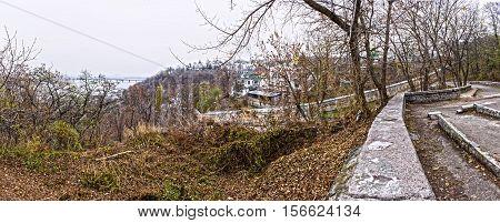 Panorama. View of the Kiev-Pechersk Lavra. 12.11.2016.Kiev.Ukraine.