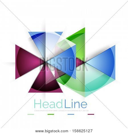 Modern business triangle abstract background