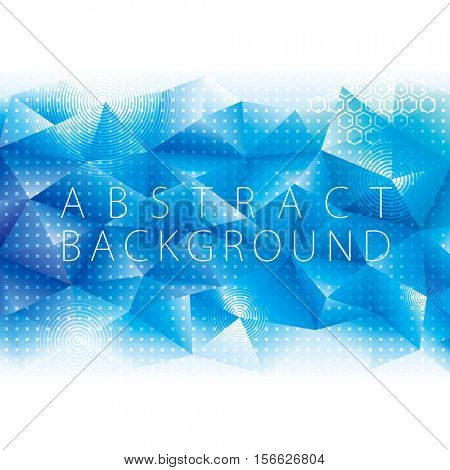 Abstract geometric polygon pattern blue technology digital background.