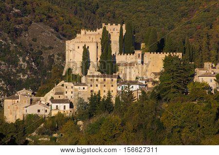 The famous castle of Rocca Sinibalda in Lazio, Italy