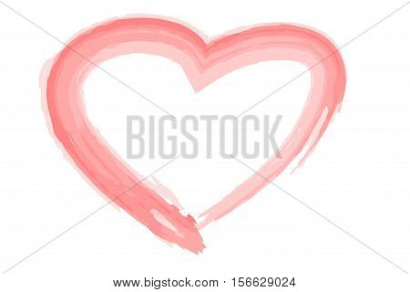 Heart Illustration In Red Color On White Background