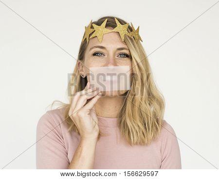 Woman Attractive Pretty Positive Expressive Concept