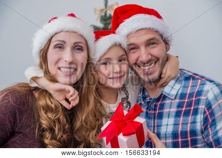 happy smiling christmas family