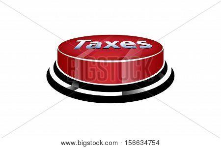 Stop the taxes button / vector design